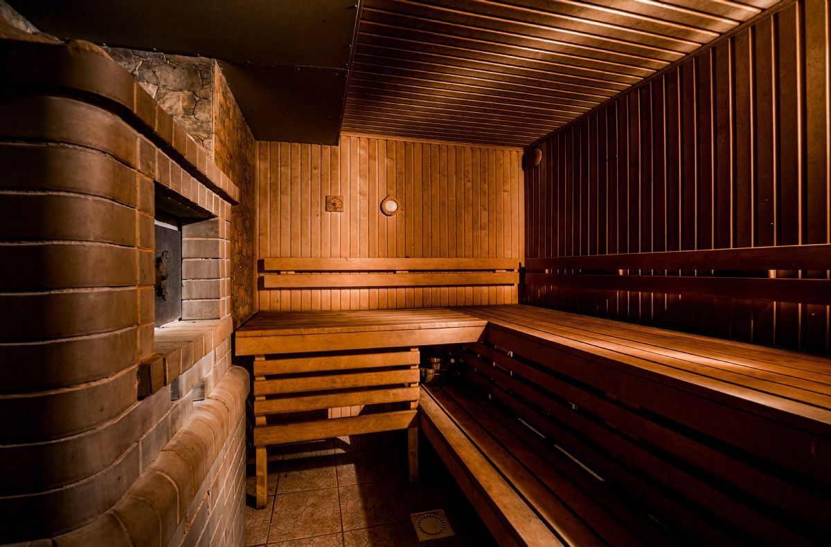 interno di una Sauna Finlandese