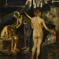 Akseli Gallen   Kallela, In the sauna, 1889