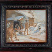 Akseli Gallen   Kallela, Outside the sauna, 1891
