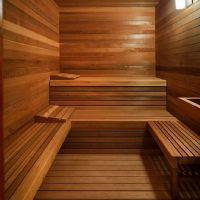Veduta di generico interno di una sauna