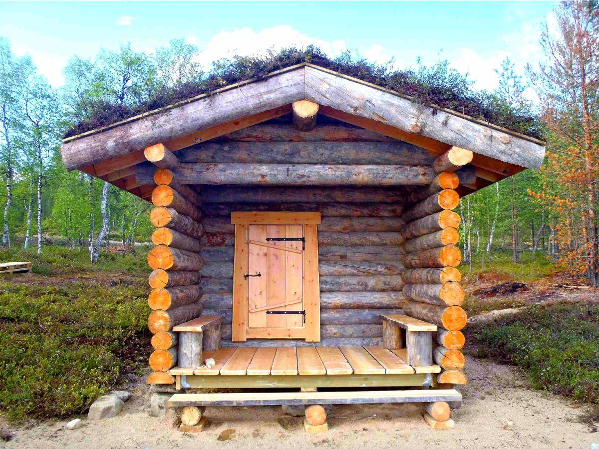 Suggestiva immagine di  savusauna finlandese
