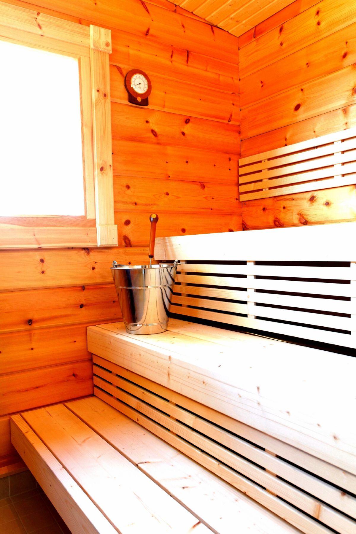 Interno di sauna finlandese
